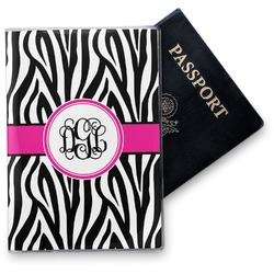 Zebra Print Vinyl Passport Holder (Personalized)