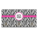 Zebra Print Wall Mounted Coat Rack (Personalized)