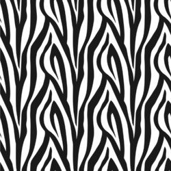 "Zebra Print Wallpaper & Surface Covering (Peel & Stick 24""x 24"" Sample)"