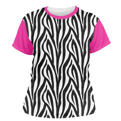 Zebra Print Women's Crew T-Shirt (Personalized)