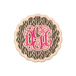 Zebra Print Genuine Maple or Cherry Wood Sticker (Personalized)
