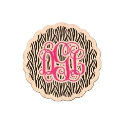 Zebra Print Genuine Wood Sticker (Personalized)