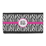 Zebra Print Leatherette Ladies Wallet (Personalized)
