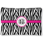 Zebra Print Zipper Pouch (Personalized)