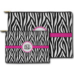 Zebra Print Zipper Pouch (Personalized)