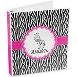 Zebra 3-Ring Binder (Personalized)