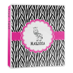 Zebra 3-Ring Binder - 1 inch (Personalized)