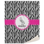 Zebra Sherpa Throw Blanket (Personalized)