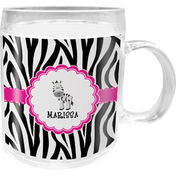 Zebra Acrylic Kids Mug (Personalized)