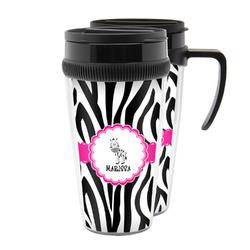 Zebra Acrylic Travel Mugs (Personalized)