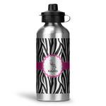 Zebra Water Bottle - Aluminum - 20 oz (Personalized)