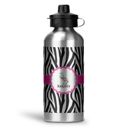 Zebra Water Bottle - Aluminum - 20 oz (Personalized)