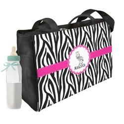 Zebra Diaper Bag (Personalized)