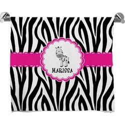 Zebra Full Print Bath Towel (Personalized)