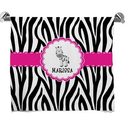 Zebra Bath Towel (Personalized)