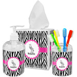 Zebra Bathroom Accessories Set (Personalized)