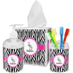 Zebra Bathroom Accessories Set (Personalized)