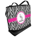 Zebra Beach Tote Bag (Personalized)
