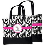 Zebra Beach Tote Bag (Personalized)