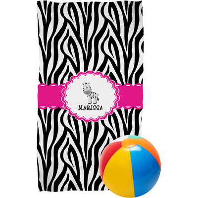 Zebra Beach Towel (Personalized)