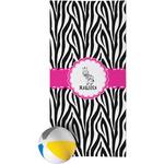 Zebra Beach Towel (Personalized)
