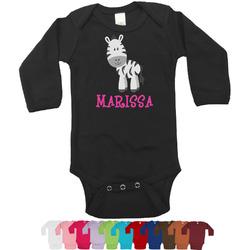 Zebra Long Sleeves Bodysuit - 12 Colors (Personalized)