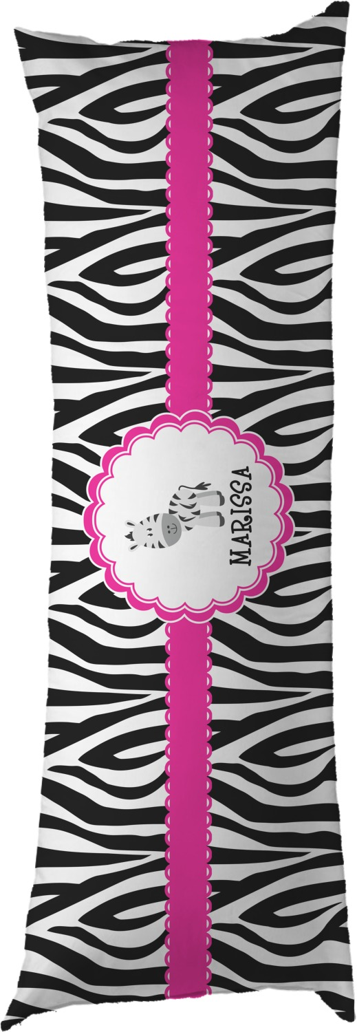 Zebra Body Pillow Case (Personalized) - YouCustomizeIt