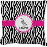 Zebra Faux-Linen Throw Pillow (Personalized)