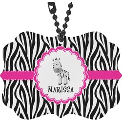 Zebra Rear View Mirror Charm (Personalized)