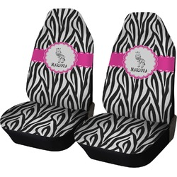 Zebra Car Seat Covers (Set of Two) (Personalized)