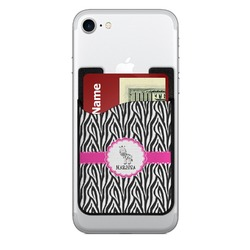 Zebra 2-in-1 Cell Phone Credit Card Holder & Screen Cleaner (Personalized)