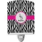 Zebra Ceramic Night Light (Personalized)