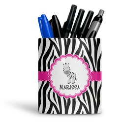 Zebra Ceramic Pen Holder