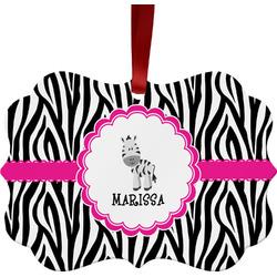Zebra Ornament (Personalized)