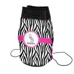 Zebra Neoprene Drawstring Backpack (Personalized)