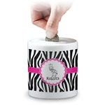 Zebra Coin Bank (Personalized)
