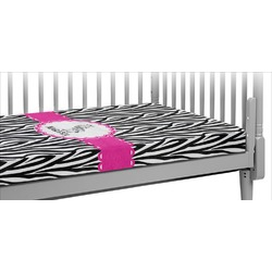 Zebra Crib Fitted Sheet (Personalized)
