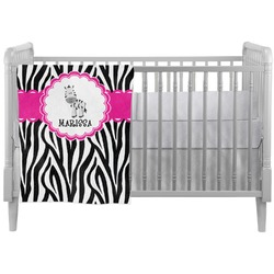 Zebra Crib Comforter / Quilt (Personalized)