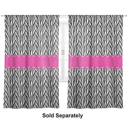 "Zebra Curtains - 20""x63"" Panels - Unlined (2 Panels Per Set) (Personalized)"