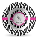 Zebra Plastic Bowl - Microwave Safe - Composite Polymer (Personalized)