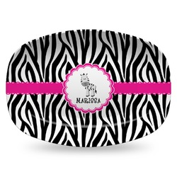 Zebra Plastic Platter - Microwave & Oven Safe Composite Polymer (Personalized)