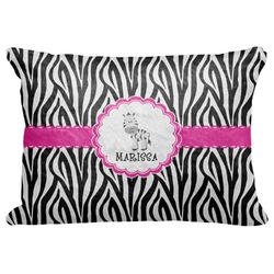 "Zebra Decorative Baby Pillowcase - 16""x12"" (Personalized)"