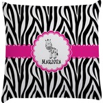 Zebra Decorative Pillow Case (Personalized)