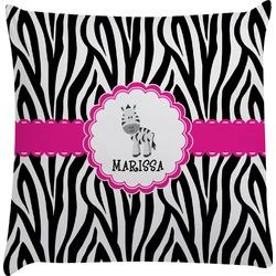 Zebra Decorative Pillow Case (Personalized)