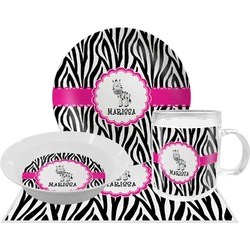Zebra Dinner Set - 4 Pc (Personalized)