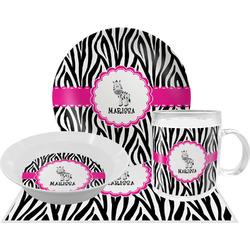 Zebra Dinner Set - 4 Pc (Personalized)