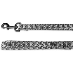 Zebra Deluxe Dog Leash - 4 ft (Personalized)