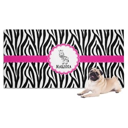 Zebra Dog Towel (Personalized)