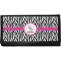 Zebra Canvas Checkbook Cover (Personalized)