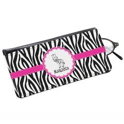 Zebra Genuine Leather Eyeglass Case (Personalized)